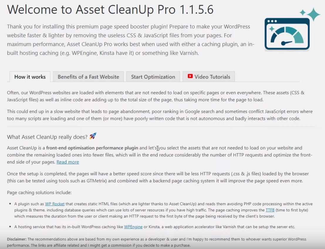 paso 1 tutorial asset cleanup pro
