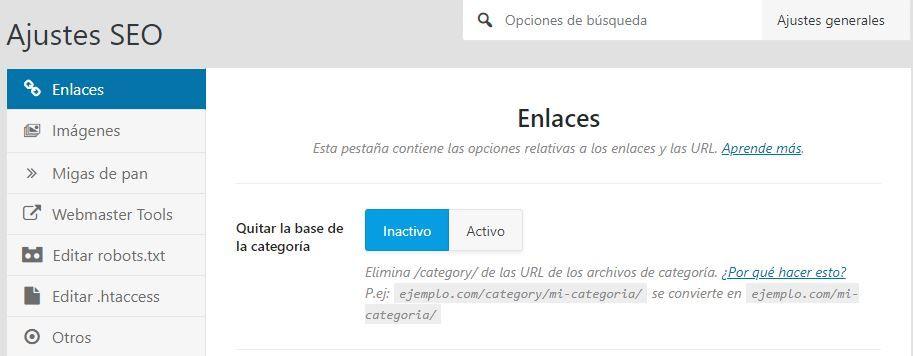 Quitar category de categorías WordPress