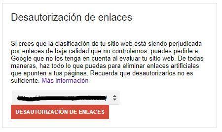 desautorizar backlinks